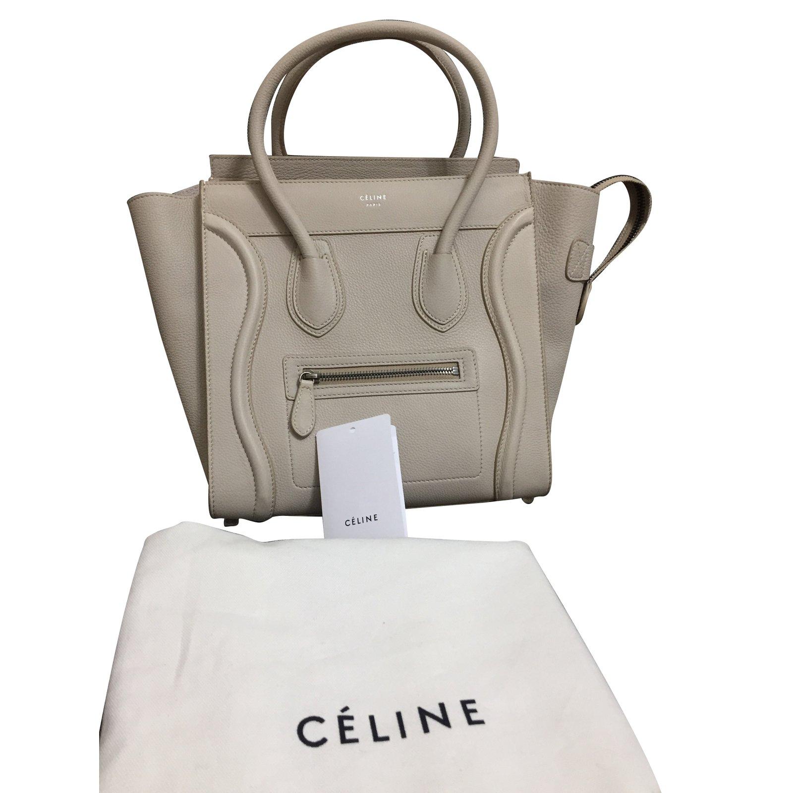 32c4ebdb1b4f Céline Handbag Handbags Leather Beige ref.85194 - Joli Closet